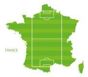 Francja boisko do piłki nożnej mapa royalty ilustracja