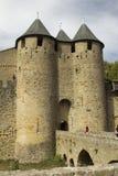 Francja. Carcassonne. Obrazy Stock