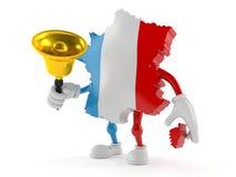 Francja charakter dzwoni ręka dzwon ilustracji