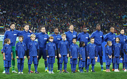 Francja drużyny futbolowej Krajowi gracze Obraz Royalty Free