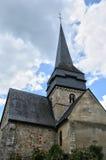 Francja, dziejowy kościół Ry w Normandie Obraz Royalty Free
