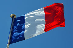 Francja flaga Zdjęcia Royalty Free