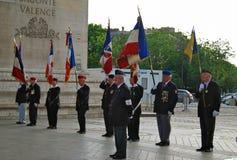 Francja honorów Militarna parada Zdjęcie Stock