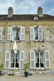 Francja kasztelu okno Obrazy Royalty Free