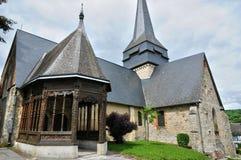 Francja, kościół Ry w wontonie Morskim Obrazy Stock