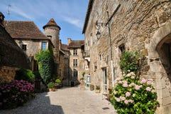 Francja, malownicza wioska Carennac w udziale zdjęcia royalty free