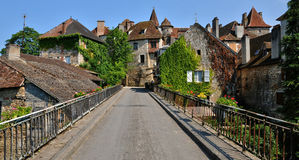 Francja, malownicza wioska Carennac w udziale obrazy royalty free