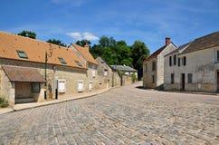 Francja malownicza wioska Montreuil sura Epte obraz stock
