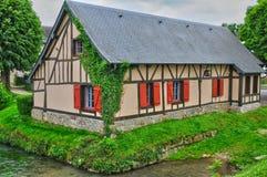 Francja, malownicza wioska Ry w wontonie Morskim Zdjęcia Stock