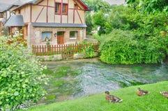 Francja, malownicza wioska Ry w wontonie Morskim Obraz Royalty Free