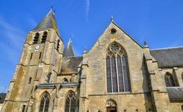 Francja malowniczy miasto Ecouis w Normandie Zdjęcia Royalty Free