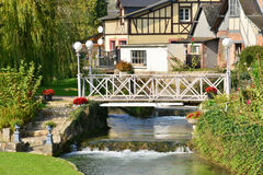 Francja, malowniczy miasto Morski Ry wonton Obraz Royalty Free