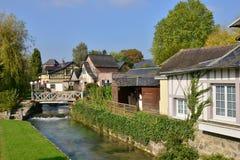 Francja, malowniczy miasto Morski Ry wonton Fotografia Royalty Free