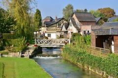 Francja, malowniczy miasto Morski Ry wonton Fotografia Stock