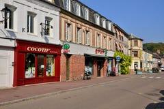 Francja, malowniczy miasto Morski Ry wonton Obrazy Royalty Free