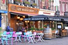 Francja malowniczy miasto Rouen w Normandie Zdjęcia Royalty Free