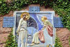 Francja, malowniczy Mont Sainte Odile w Basie Rhin Obraz Royalty Free