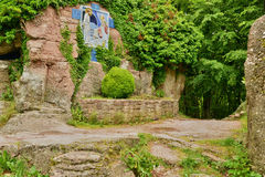Francja, malowniczy Mont Sainte Odile w Basie Rhin Zdjęcia Stock