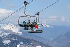 Francja narciarstwo Fotografia Stock