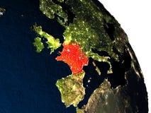 Francja od przestrzeni Zdjęcia Royalty Free