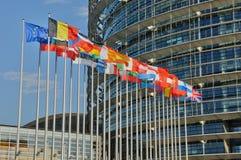 Francja, parlament europejski Strasburg Obrazy Stock