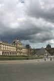 Francja. Paryż. Louvre i szkła ostrosłup Zdjęcia Royalty Free
