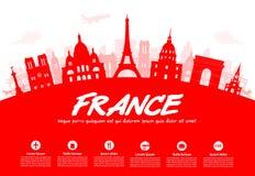 Francja, Paryscy podróż punkty zwrotni Zdjęcia Royalty Free