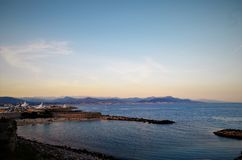 Francja plaża, Antibes obrazy stock