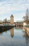 Francja. Widok wierza poprzednie fortyfikacje Zdjęcia Royalty Free