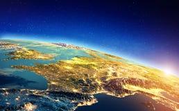 Francja przestrzeni wschód słońca zdjęcia stock