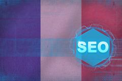 Francja seo (wyszukiwarka optymalizacja) Wyszukiwarki optimisation pojęcie ilustracji