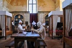 Francja, stary szpital Hautefort zdjęcia royalty free
