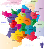 Francja wektorowa mapa Obrazy Royalty Free