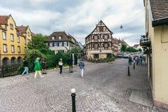 Francja wioska Colmar Zdjęcia Stock