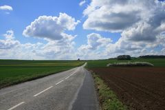 Francja: zbieg drogi Obraz Royalty Free
