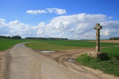 Francja: zbieg drogi Obrazy Stock