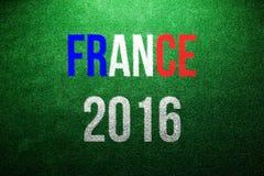 Francja 2016 znak Zielona sztuczna murawa piękny taniec para strzału kobiety pracowniani young Obrazy Royalty Free