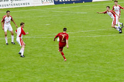 Franck Ribéry from Bayern Munich. On the field kicking the ball in a friendly match Royalty Free Stock Image