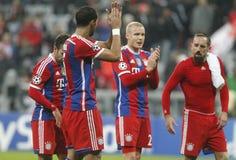 Franck Ribéry and Sebastien Rode Bayern Munich v AS Rome Champion League Stock Photo
