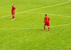 Franck Ribéry and Arjen Robben from Bayern Munich Stock Photos