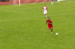 Franck Ribery  from Bayern Munich. Franck Ribéry from Bayern Munich on the field running after the ball Royalty Free Stock Image