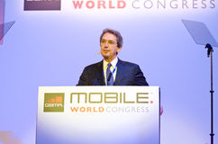 Franco Bernabè, CEO de Telecom Italia Imagen de archivo
