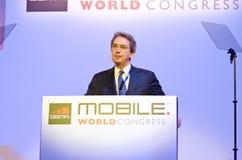 Franco Bernabè, CEO of Telecom Italia Stock Image