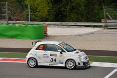 Franco Cimarelli Abarth Trophy 2015 Fiat 500 at Monza Stock Photography