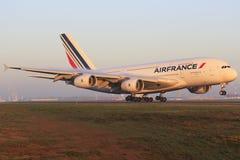 Franco do ar de Airbus A380 Imagens de Stock