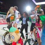Franco Marvulli Iljo Keisse celebrates victory Royalty Free Stock Photography