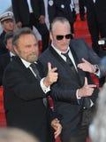 Franco Nero & Quentin Tarantino Stock Images