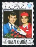 Franco Nones. RAS AL KHAIMA - CIRCA 1972: stamp printed by Ras al Khaima, shows Franco Nones, circa 1972 Stock Image