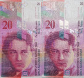 Franco suizo Imagenes de archivo