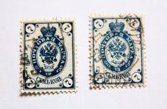 Francobolli del XIX secolo Fotografia Stock
